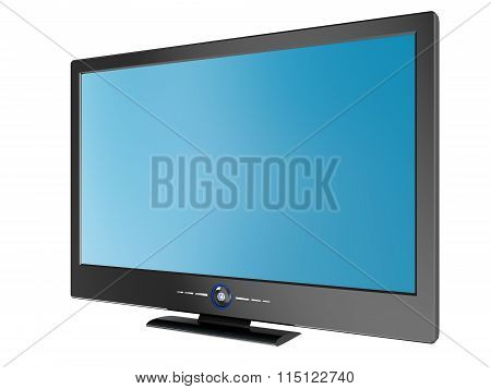 Plasma TV isolated on white