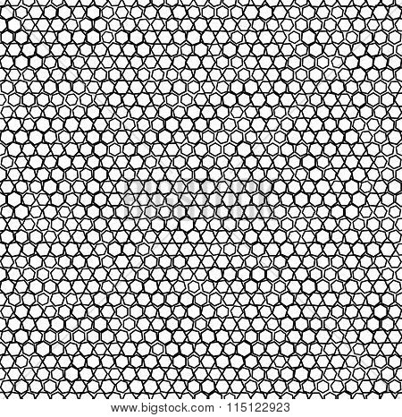 Abstract Pattern / Background With Random Octagons. Vector.