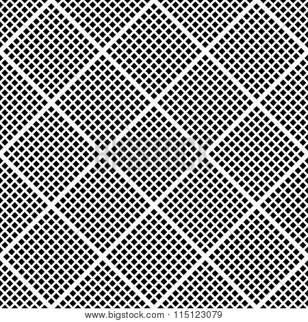 Seamless Abstract Monochrome Background With Mosaic Of Squares. Seamlessly Repeatable Pattern