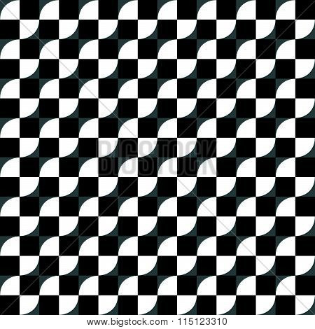 Seamless Pattern With Checkered Circles. Made With Radial Gradients.