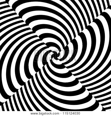 Monochrome Vector Art: Abstract Spirally, Swirly, Twirling Background.