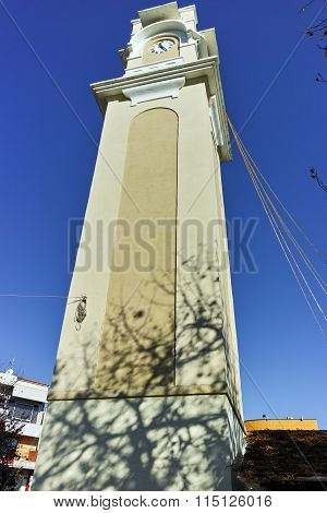 Clock tower in the center of  town of Xanthi, East Macedonia and Thrace
