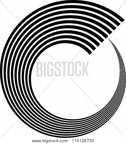 Abstract Spiral, Volute, Helix Element. Vector Art.