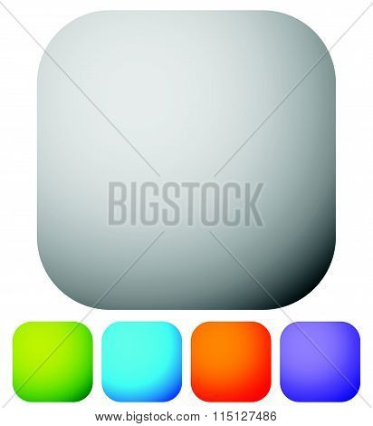 Rounded Corner Squares In 5 Colors, Eps 10 Vector