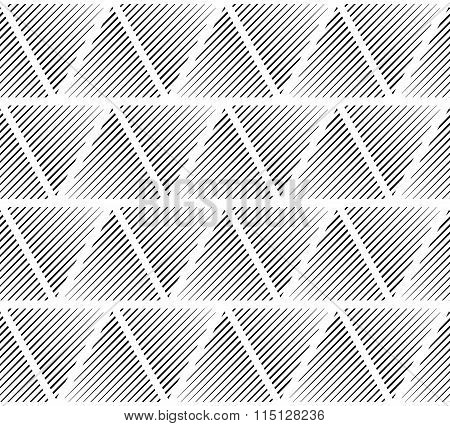Slanting Lines Clipped In Triangles. Seamlessly Repeatable Pattern.