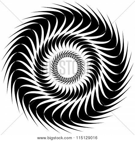 Abstract Spiral, Twirl Element Isolated On White. Abstract Shape. Vector