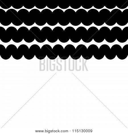 Wavy, Zigzag Lines Pattern. Abstract Monochrome Background For Your Design.