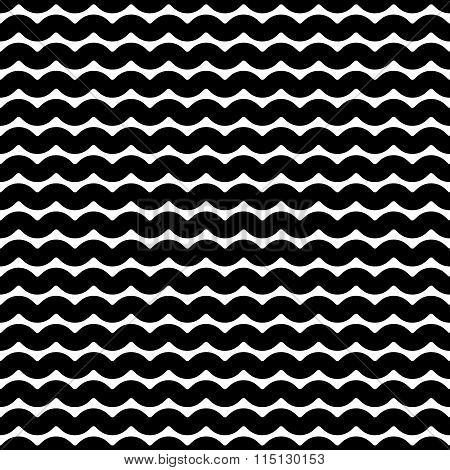 Wavy, Billowy Lines Seamless Pattern. Vector Illustration.