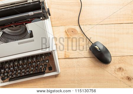 the typewriter and mouse