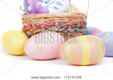 Colorful Easter Eggs Closeup