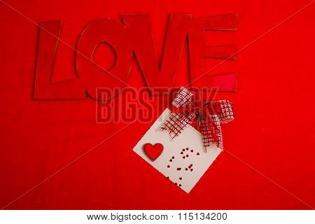 Open Red Envelope With Valentine Heart