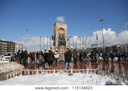 Taksim Monument Of The Republic