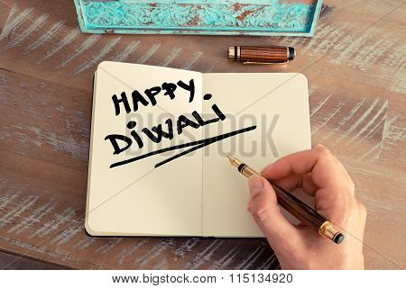 Handwritten Text Happy Diwali
