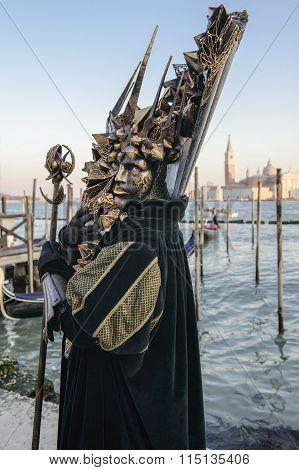 VENICE, ITALY - FEBRUARY,6 - 2015: large mask surreal