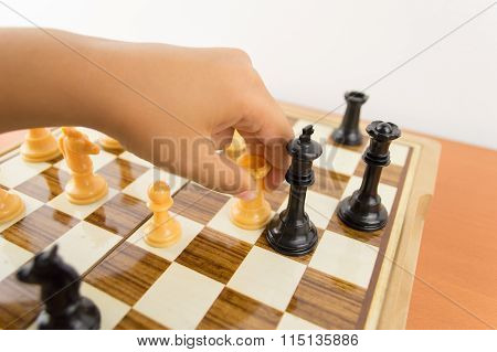 Kid Wins The Chess Match