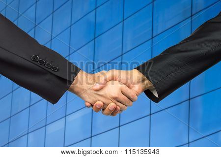Handshake In An Office