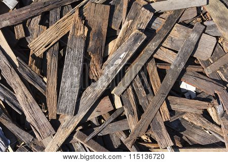 Pile Of Small Pieces Of Scrap Wood