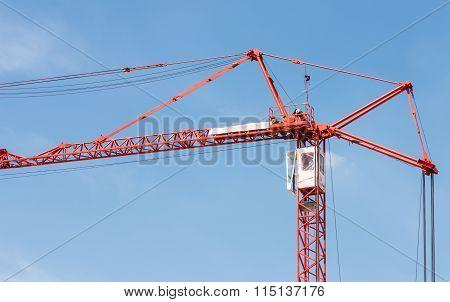 Red Modern Crane