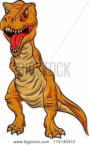 Tyrannosaurus Rex character isolated on white background