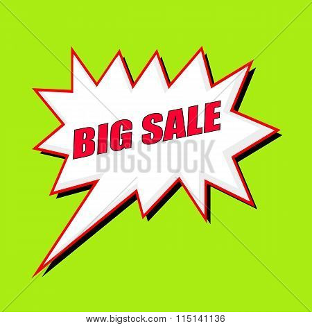 Big Sale Wording Speech Bubble