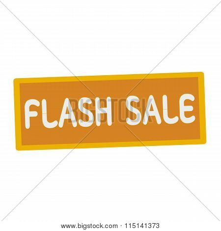 Flash Sale Wording On Rectangular Signs