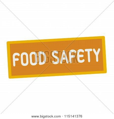 Food Safety Wording On Rectangular Signs