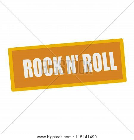 Rock N Roll Wording On Rectangular Signs