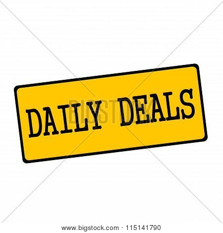 Daily Deals Wording On Rectangular Signs