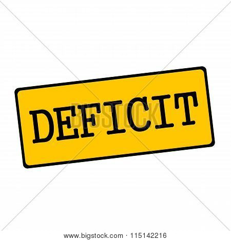 Deficit Wording On Rectangular Signs