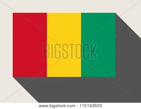 Guinea flag in flat web design style.