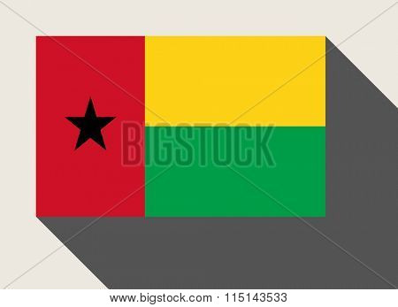 Guinea-Bissau flag in flat web design style.