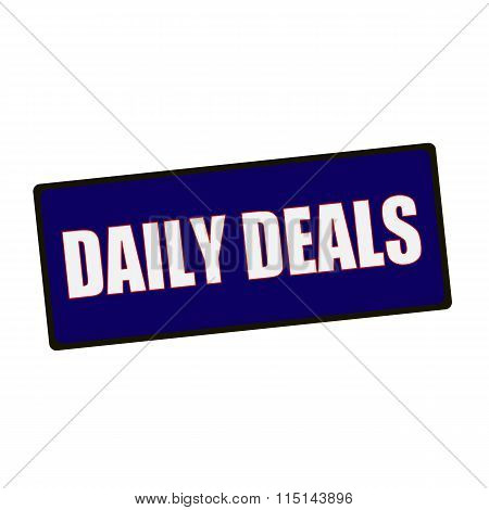Daily Deals Wording On Rectangular Green Signs