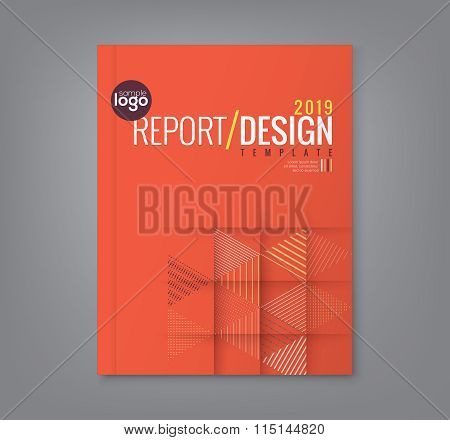 Abstract Triangle Shapes Background For Business Annual Report Book Cover Brochure Poster