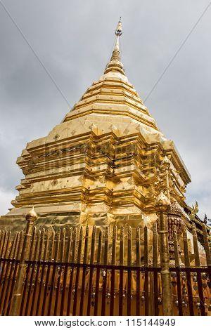 Golden Stupa in Doi Suthep Temple
