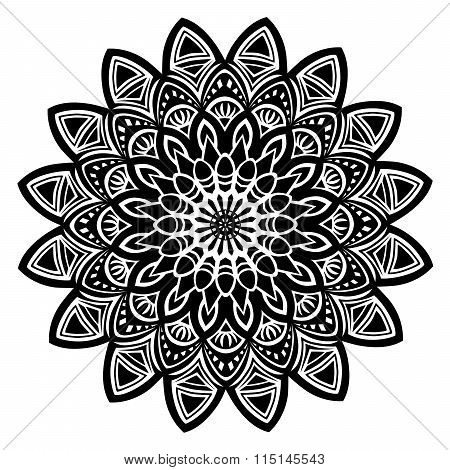 Mandala black.