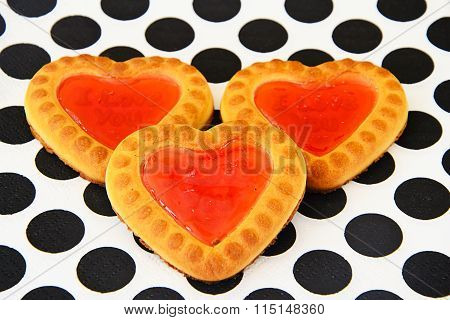 Cookies in the shape of hearts