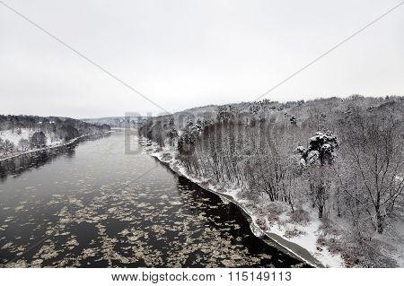 winter river   Neman