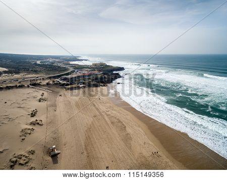 Aerial View of Praia do Guincho, Cascais, Portugal