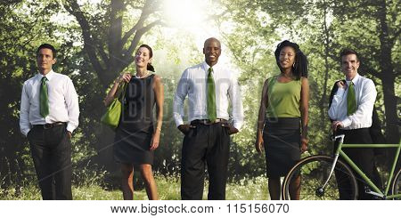 Green Business Nature Cheerful Environment Concept
