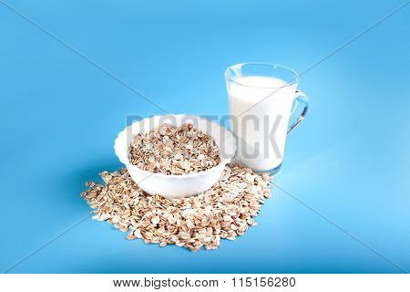 cup of oatmeal for breakfast