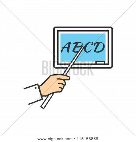 Teacher Stand Blackboard and Holding Pointer Board