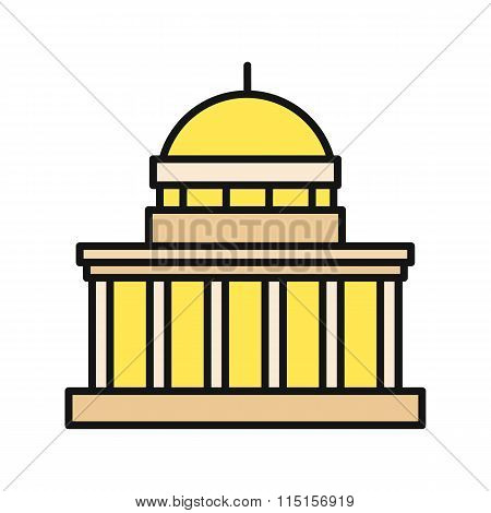 Icon Building Flat Design Isolated