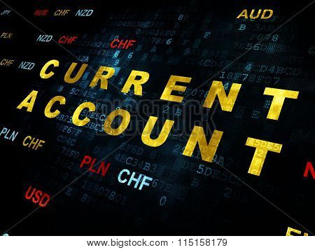 Currency concept: Current Account on Digital background