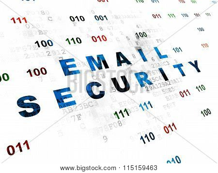 Privacy concept: Email Security on Digital background