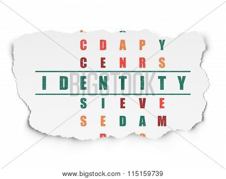 Safety concept: Identity in Crossword Puzzle
