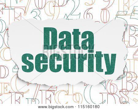 Safety concept: Data Security on Torn Paper background