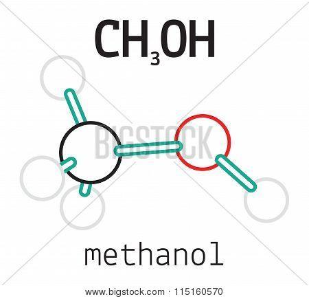 CH3OH methanol molecule