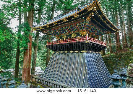 Drum Tower(Koro) at Taiyuinbyo - the Mausoleum of Shogun Tokugawa Iemitsu in Nikko, Japan