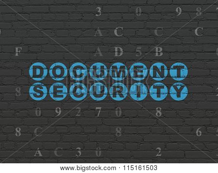 Privacy concept: Document Security on wall background