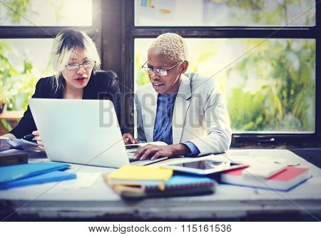 Business Corporate Collaboration Concentrate Focus Concept